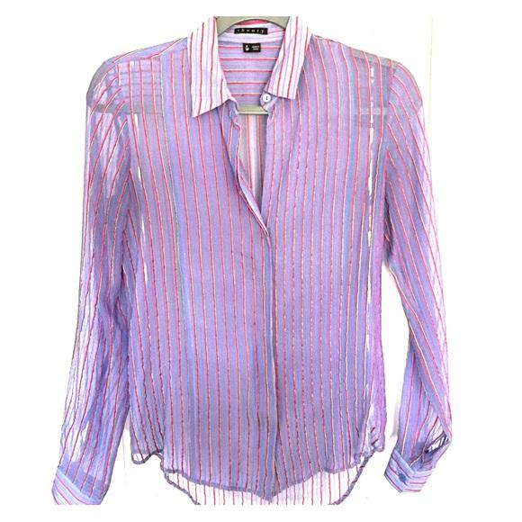 7fddb17bf73 Theory Tops   Silk Blouse Size Xs Beautiful   Poshmark